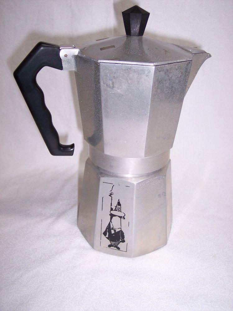Vintage A Bialetti Crusinallo Moka Express Coffee Espresso Maker 46 Metal