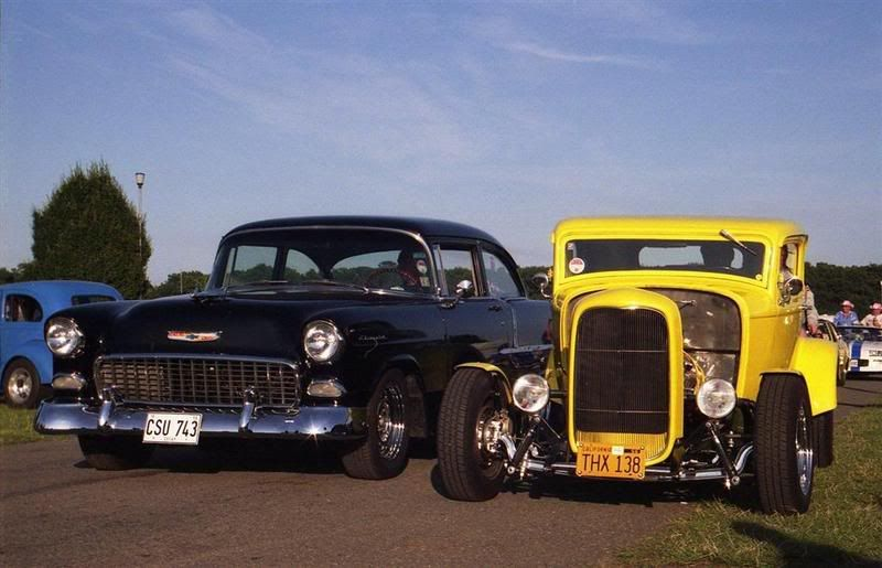 55 Chevy 210 2 Door Sedan And 32 Ford 5 Window Coupe From