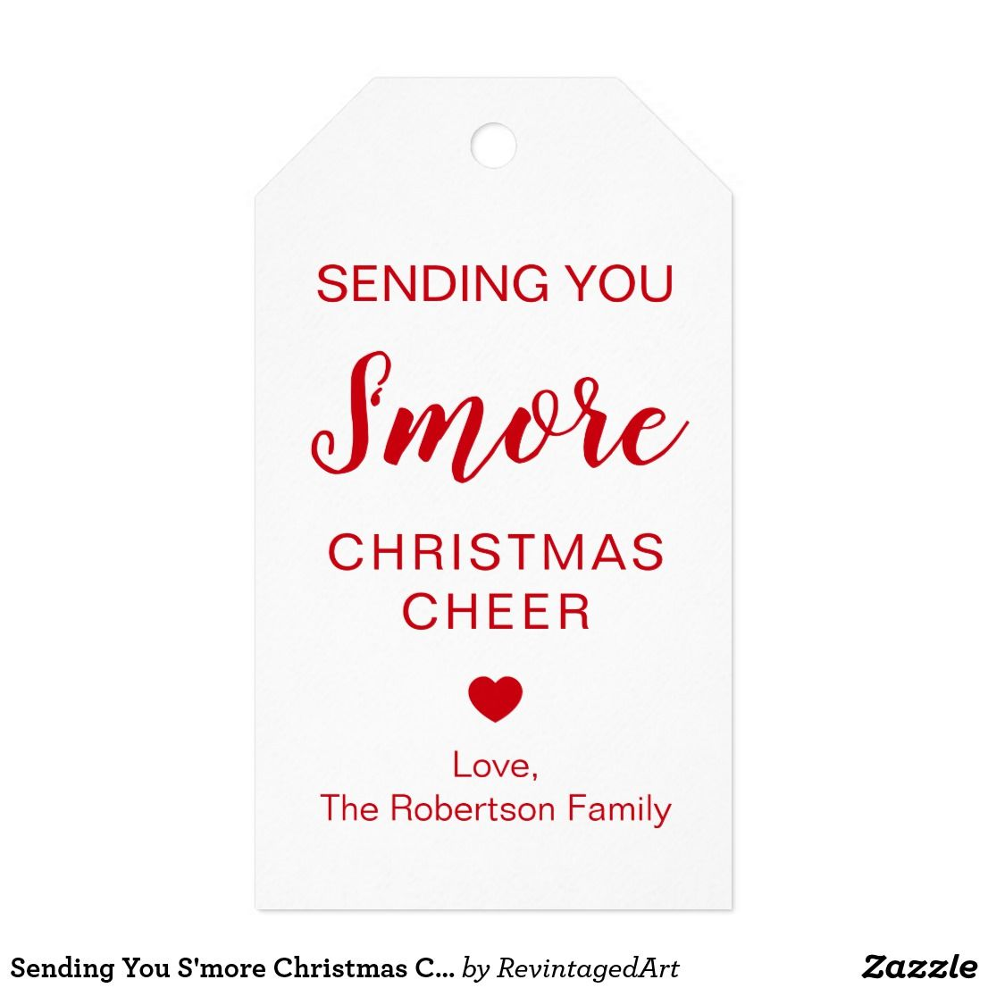 Sending You S'more Christmas Cheer For S'mores Gift Tags