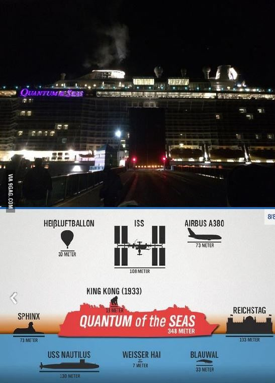 Today the third biggest passenger ship of the world shipped the Ems, Germany