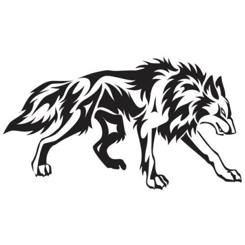 09575145e Wolf Die Cut Vinyl Decal PV984 | Car & Truck Window Decals | Wolf ...