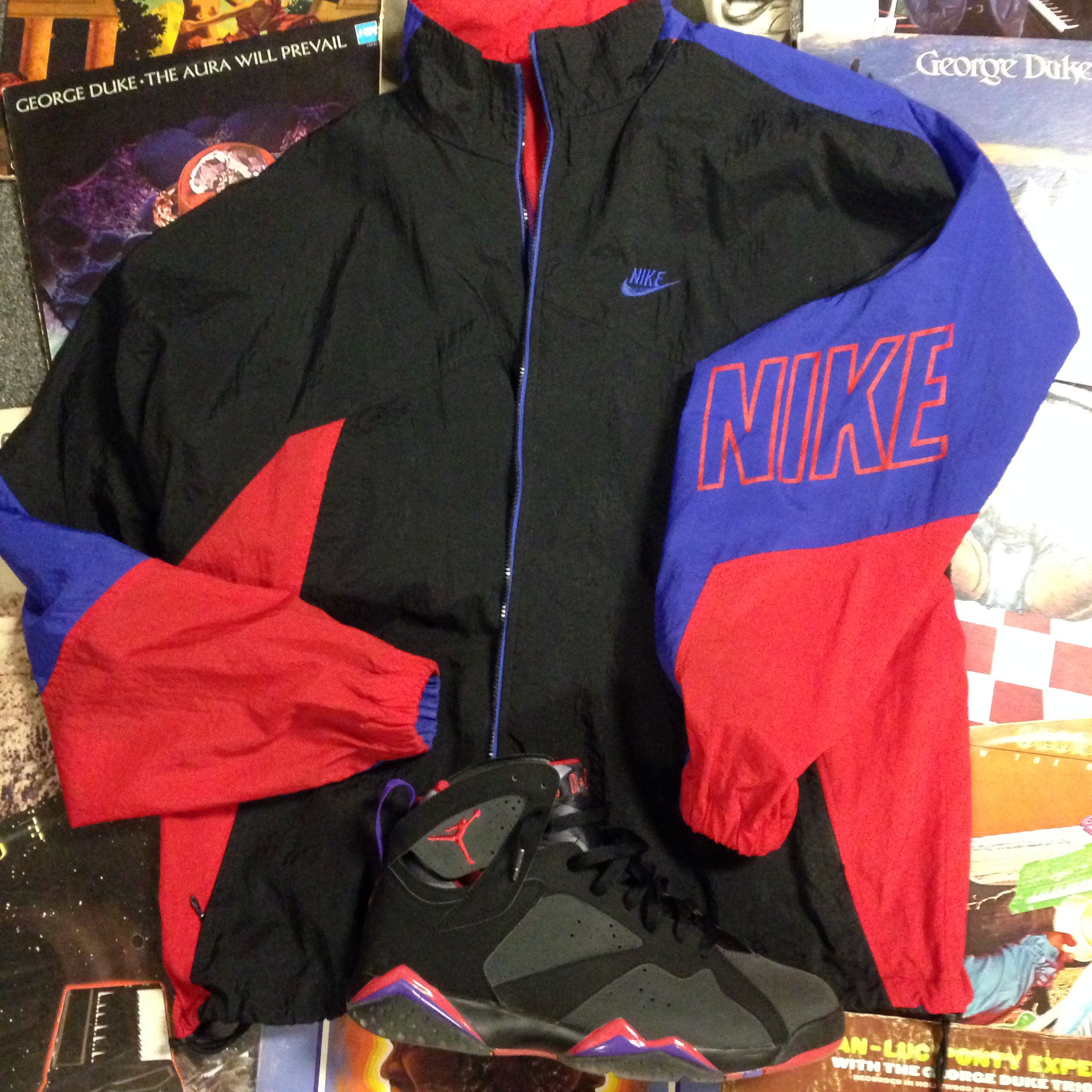 626e1b150 Vintage early 90's grey label nike windbreaker & Jordan Retro 7 ...