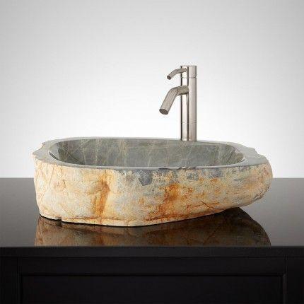 Umatilla Natural Stone Vessel Sink Decor in 2018 Pinterest