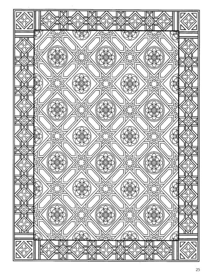 dover coloring book decorative tile design - Google Search