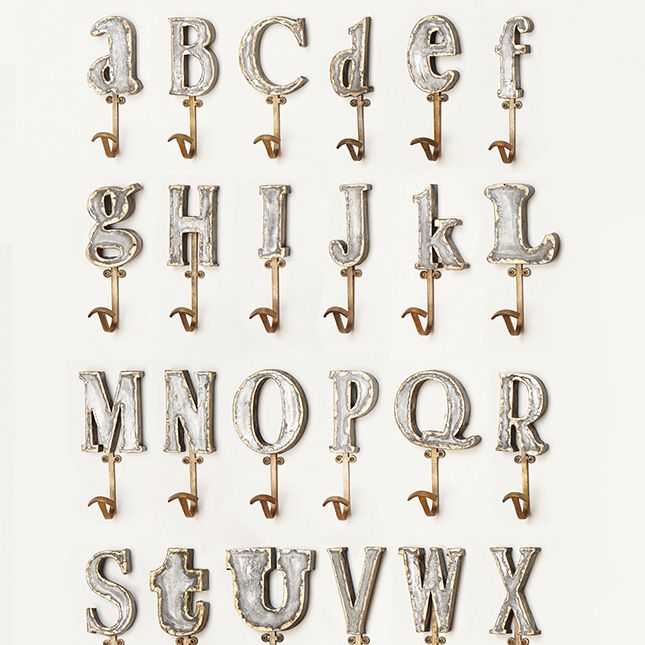 Marquee Letter Hook Via Brit Co