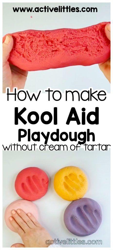 Best Kool Aid Playdough Recipe Without Cream Of Tartar Active Littles Kool Aid Play Dough Recipe Easy Playdough Recipe Homemade Playdough Recipe