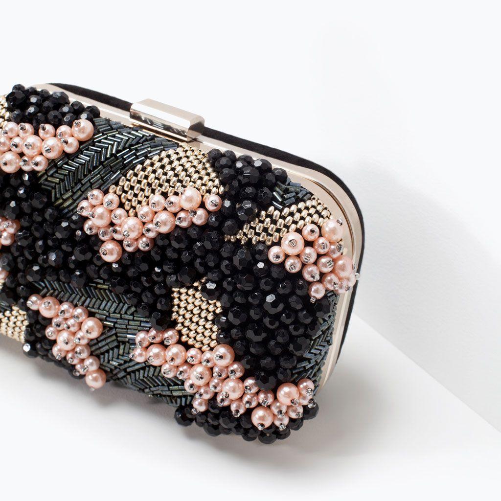 BEADED BOX CLUTCH-Handbags | ZARA United States