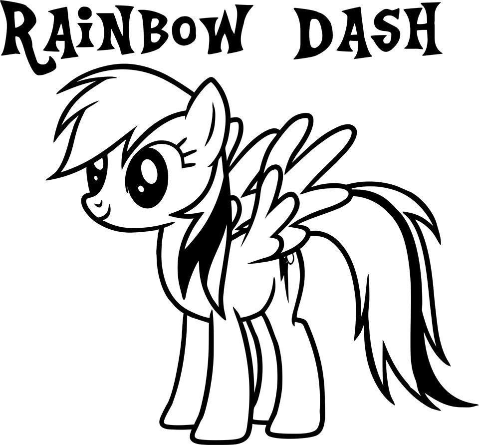 My Little Pony Rainbow Dash Die Cut Vinyl Sticker Decal
