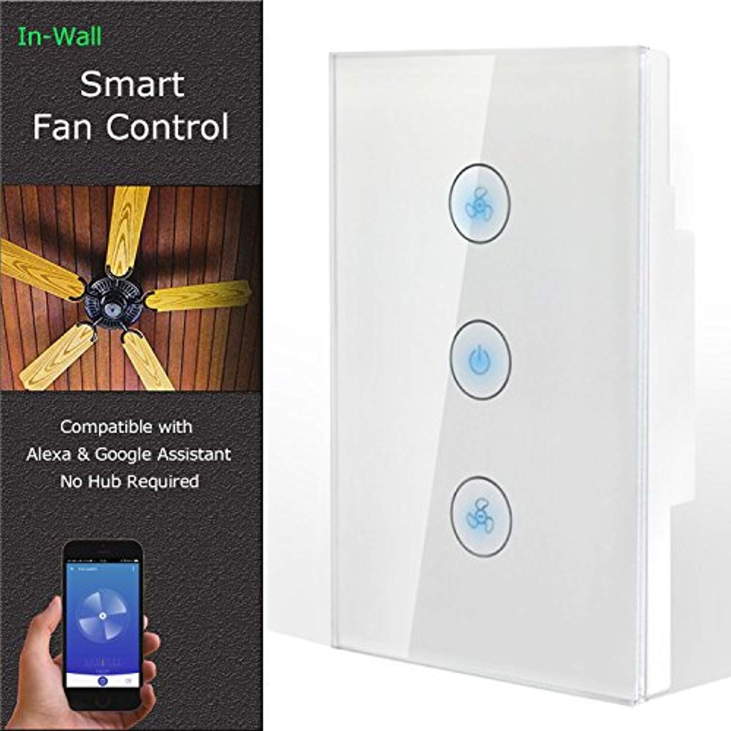 Smart fan speed control compatible with alexa and google assistant