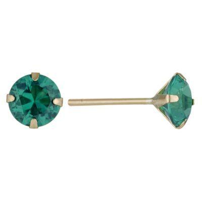9ct Yellow Gold Emerald Stud Earrings H Samuel The Jeweller