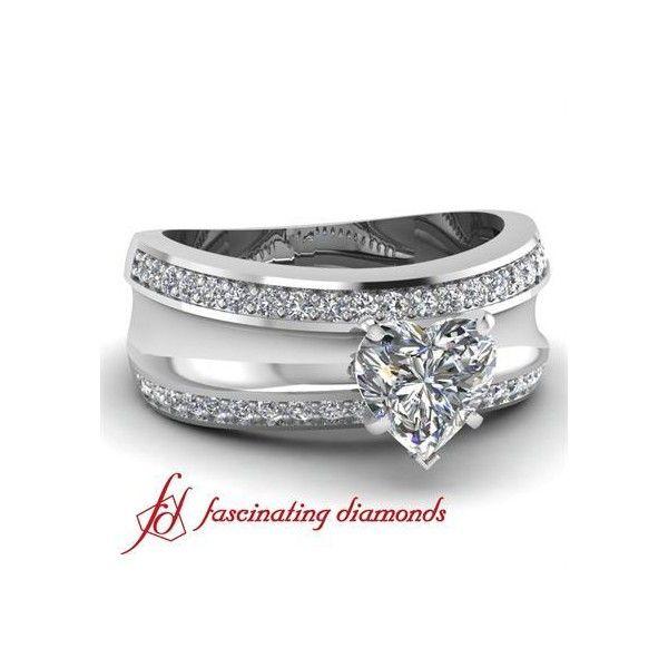 site Round Cut Diamond With a Twin Bordered Diamond Framework Grande... ($2,088)