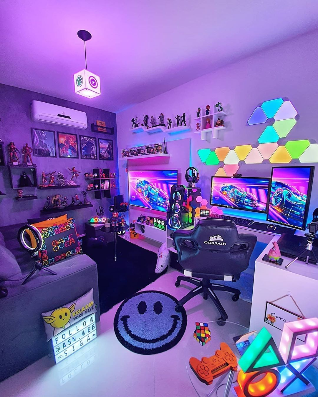Pin by Freddy Fazbear on gaming setup in 20  Video game room