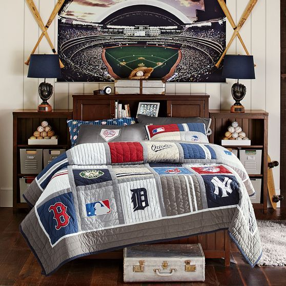 Mlb Quilt Sham Boys Bedroom Furniture Mens Room Decor