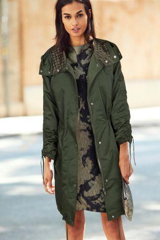 Buy Khaki Glam Parka from Next Australia | Style Online ...
