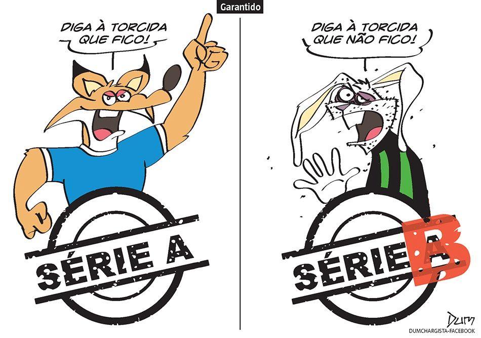Charge do Dum (Zona do Agrião) sobre a saída de Dátolo do Atlético (17/11/2016) #Charge #Dum #Futebol #Cruzeiro #América #Rebaixado #Rebaixamento #SérieB #Coelho #Brasileirão #CampeonatoBrasileiro #HojeEmDia