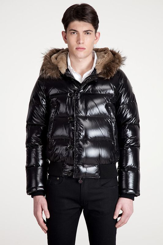 357d11bcd0cc Moncler Bulgarie Men Fur Hood Down Jacket Black  245