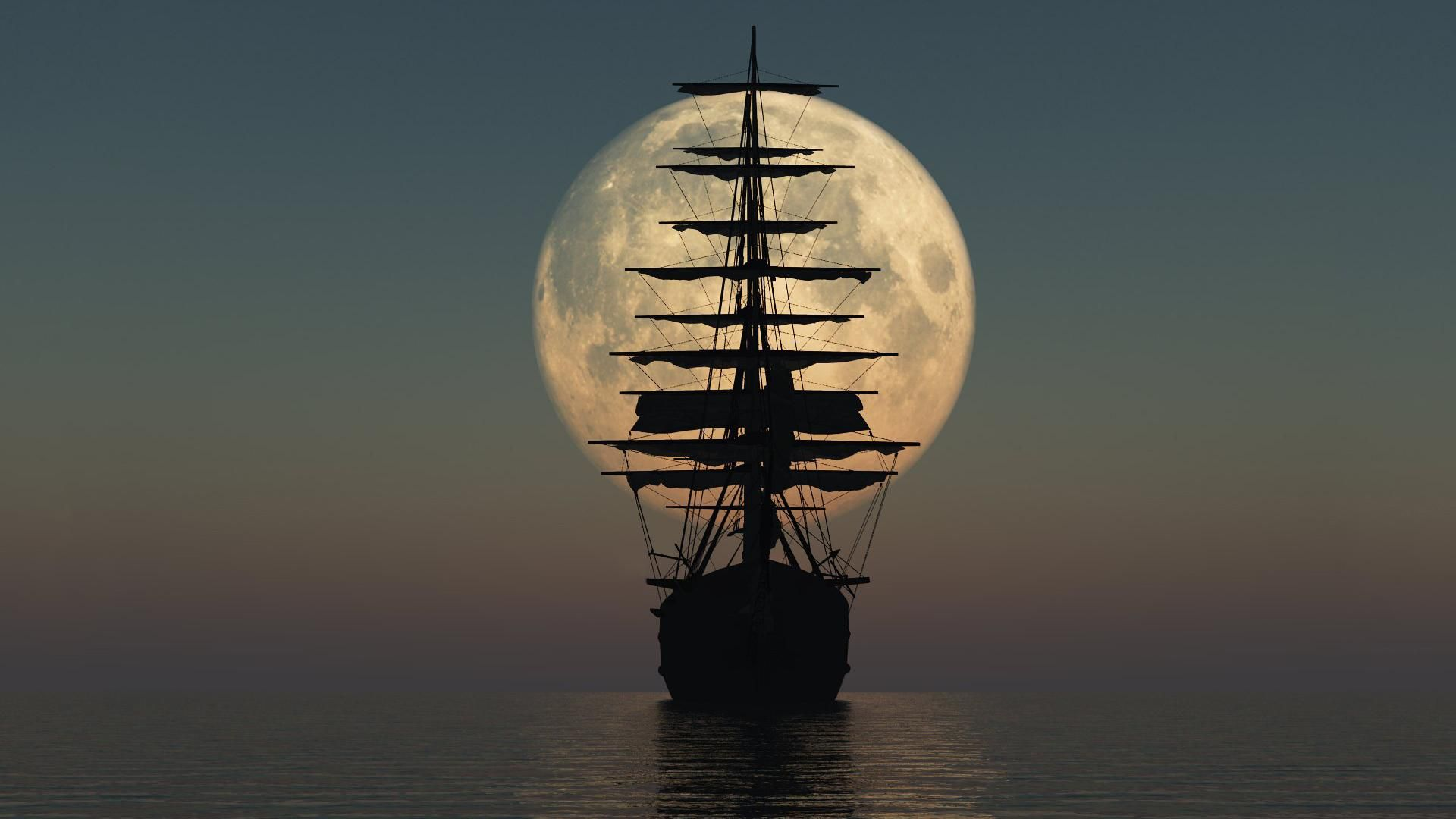 Black Pearl Ship Pirate Silhouette Hd Wallpaper Album On Imgur