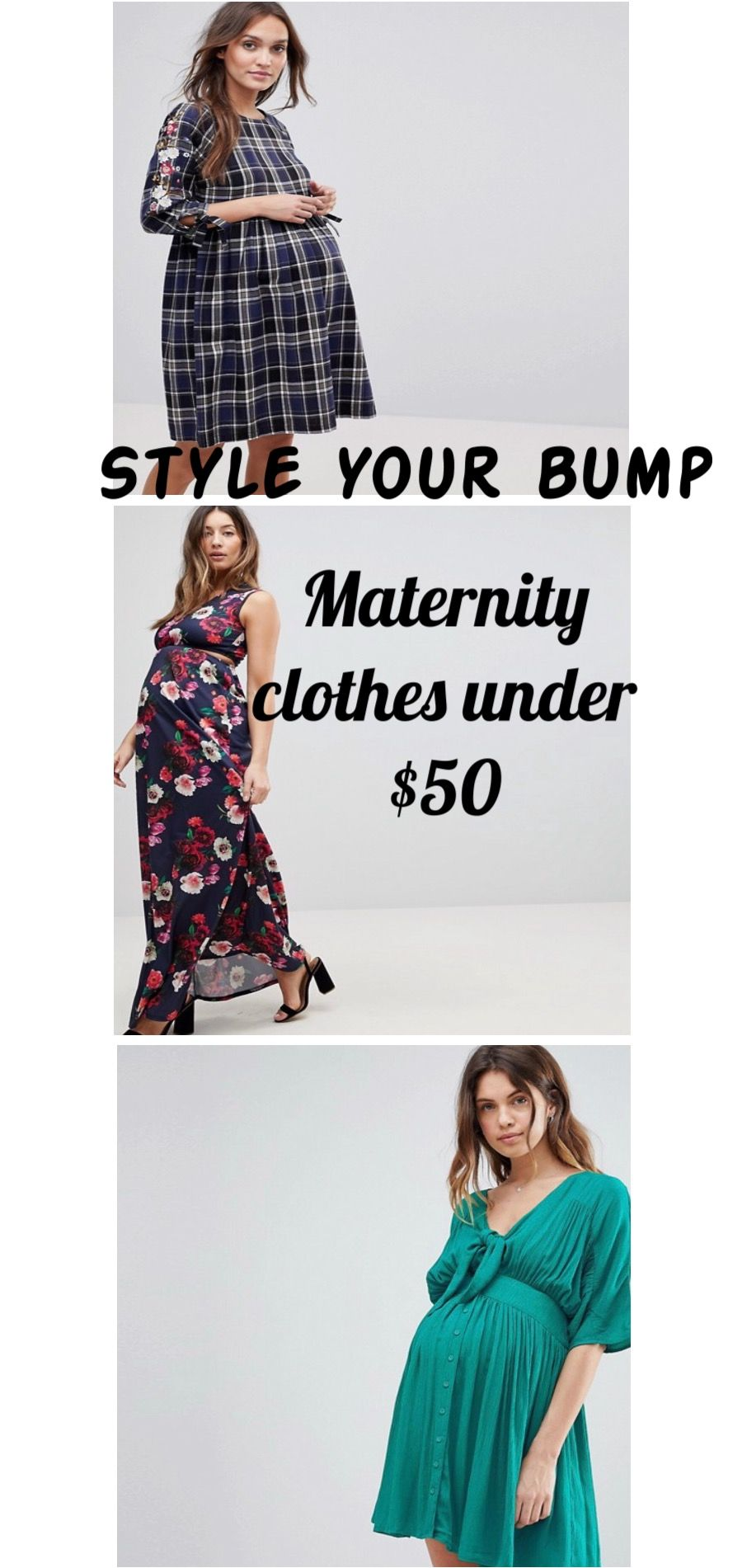 c69cdb4a03eb9 Elegant and comfy maternity clothes under  50. Maternity fashion from first  trimester to third