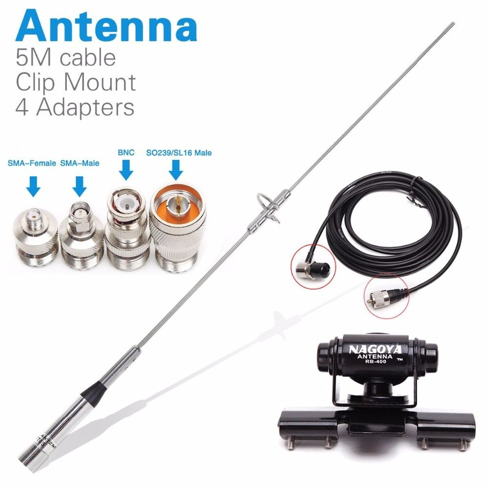 BNC to SMA Connector Adapter 4-Kit for VHF UHF Ham Two Way Radio Scanner Antenna