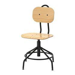 Schreibtischstuhl holz ikea  KULLABERG Drehstuhl, Kiefer, schwarz | Drehstuhl, Prägen und Stabil