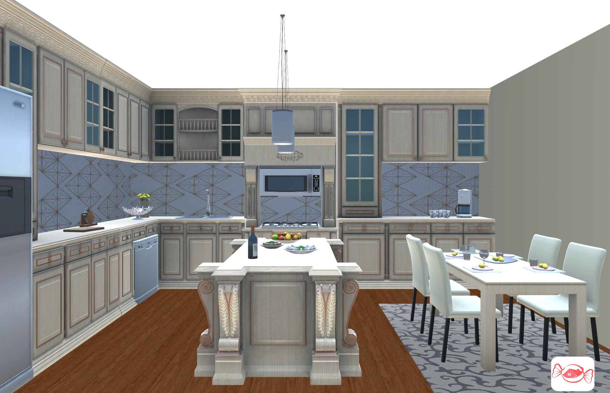 Check Out This Modern Style Kitchen Created With Our Home Sweet Home 3d App What Does Your Dream Kitc Best Kitchen Designs White Kitchen Rustic Kitchen Design