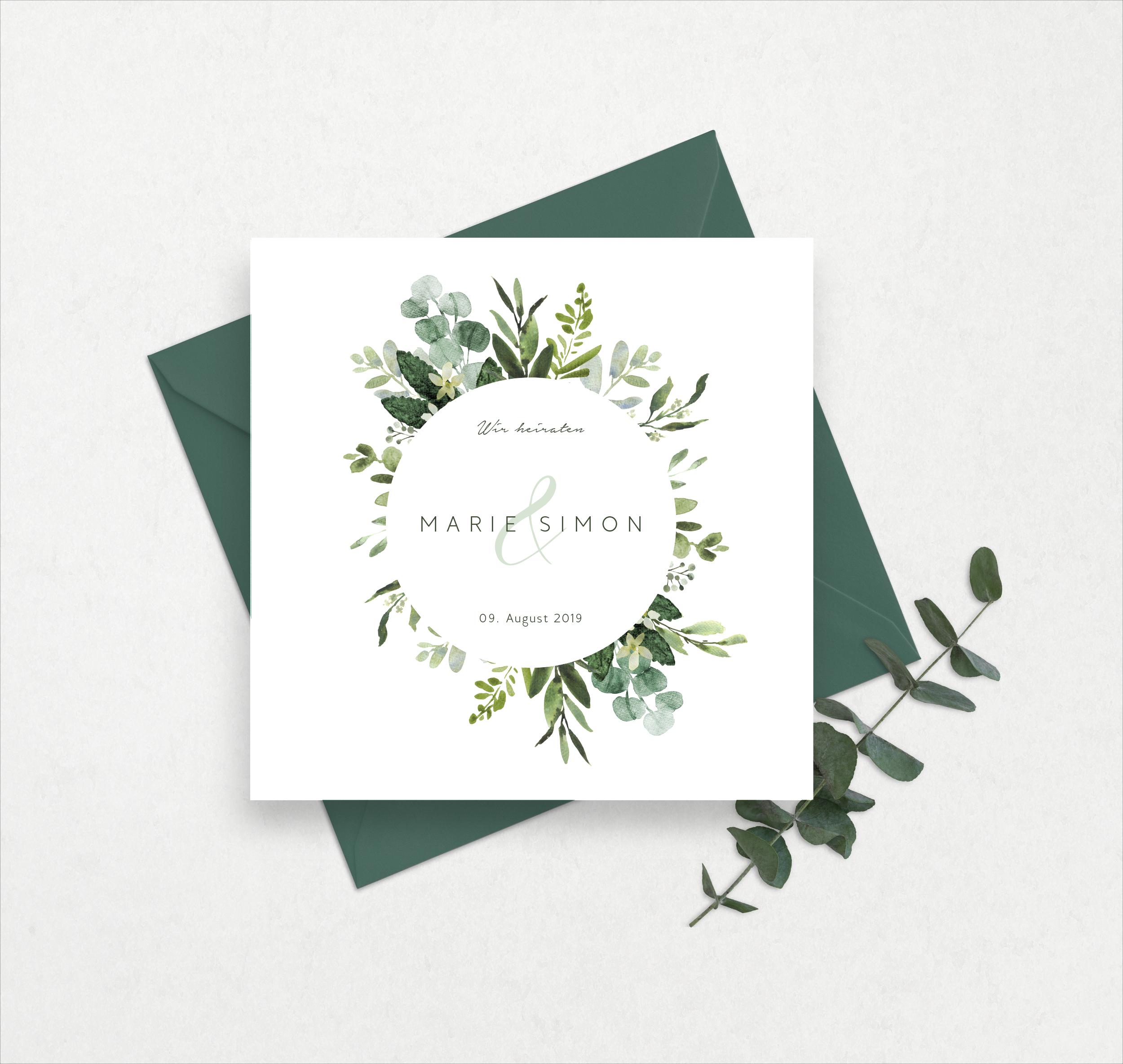Photo of Greenery – Hochzeitseinladungen