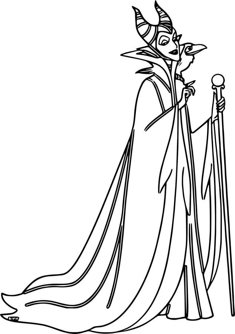Maleficent Diablo Waiting Coloring Page In 2020 Coloring Pages Maleficent Disney Maleficent