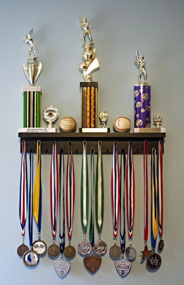 Premier 2Ft Award Medal Hanger Display Rack and Trophy Shelf Premier 2Ft Award Medal Hanger Display Rack and Trophy Shelf