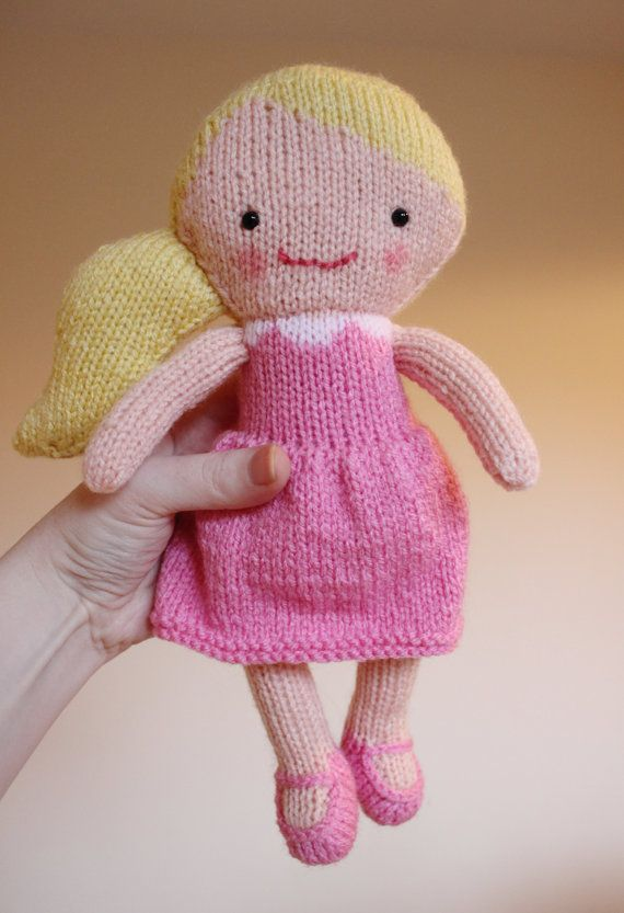 Doll Knitting Pattern Toy Rag Doll Pattern Pdf Rosie Lulu