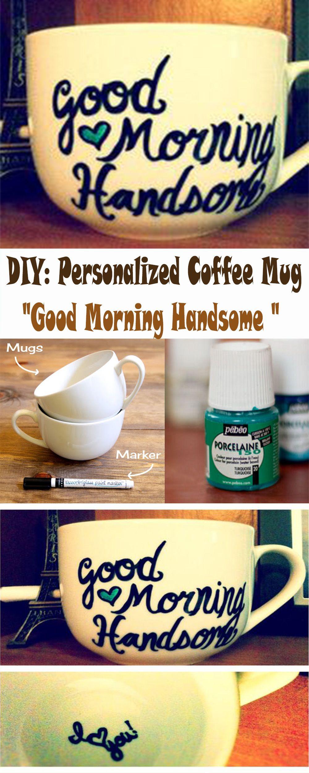 Diy personalized coffee mug romantic gifts for boyfriend