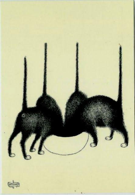 LES CHATS D' HEMERA: Les chats d'Albert Dubout