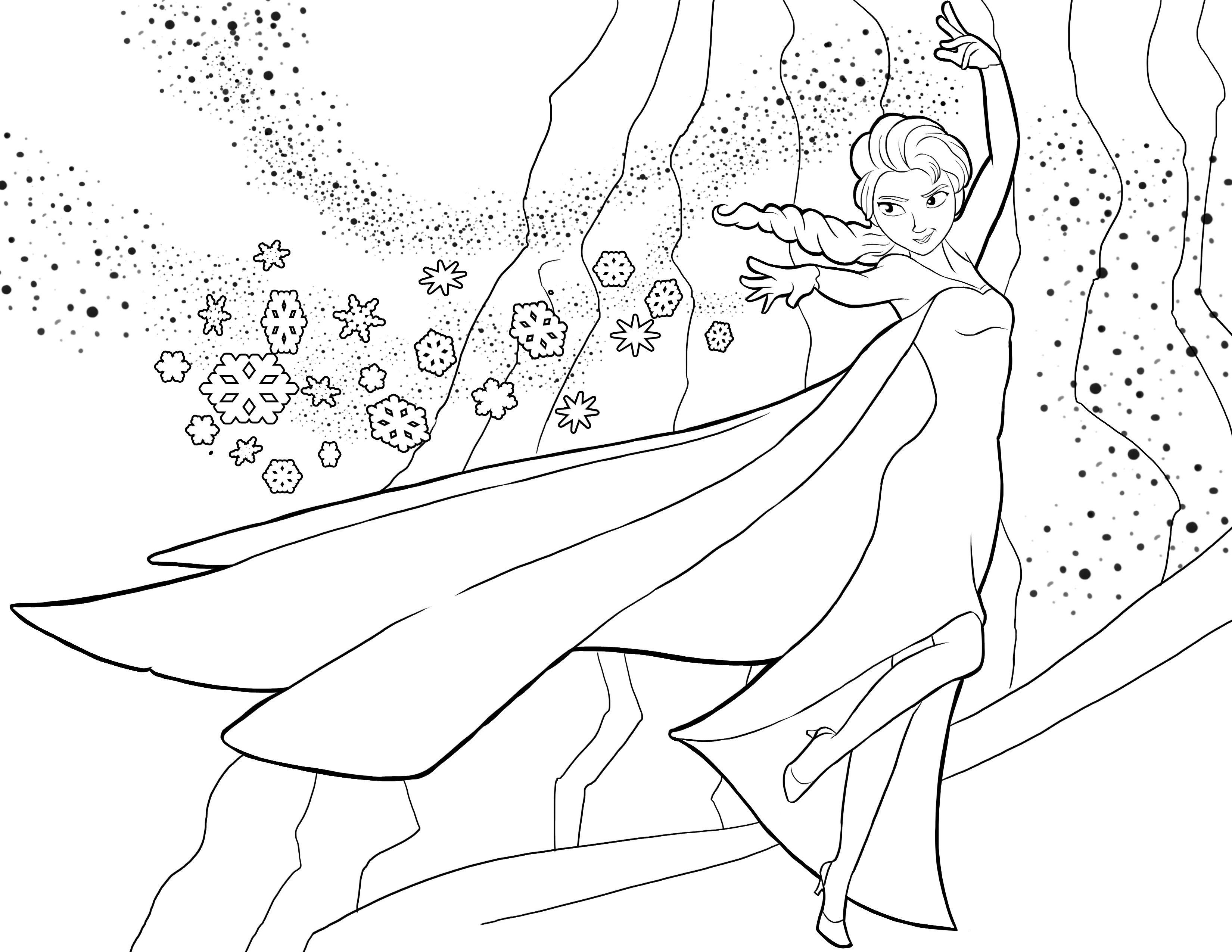 Disegni da colorare Frozen 1 | Disney and coloring pages | Pinterest ...