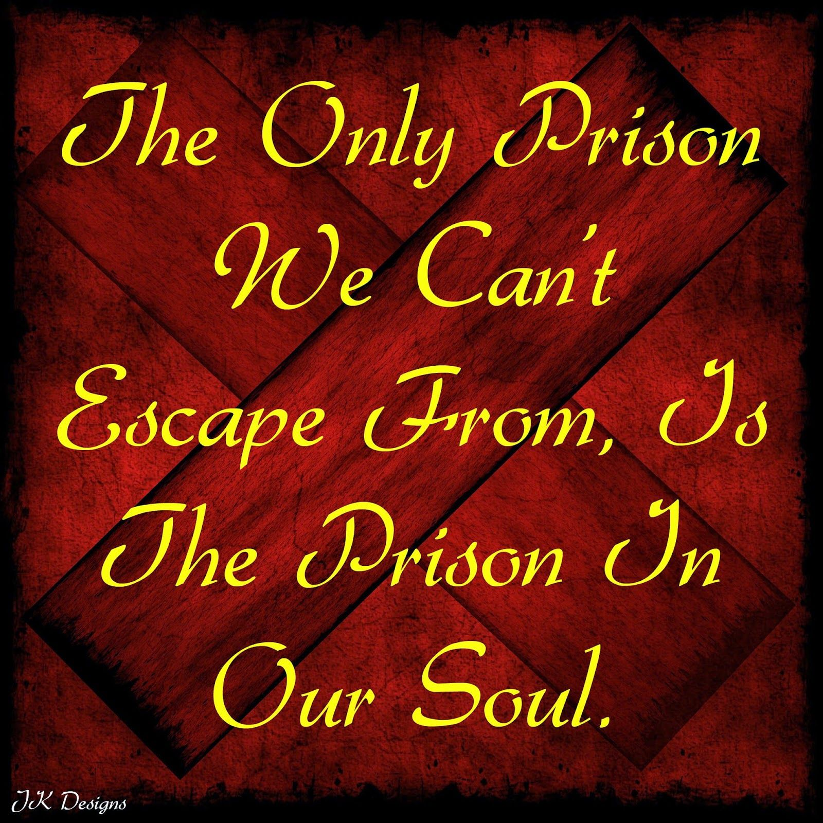 Mijn T-shirt-prints: The Prison In Our Soul