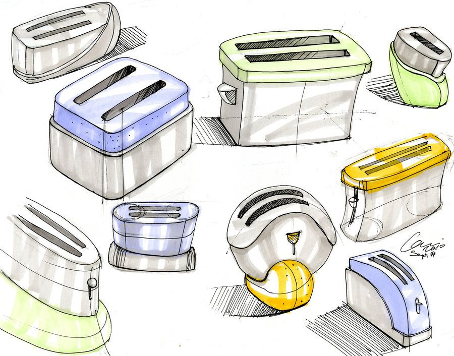 Toaster sketches by CariSketching.deviantart.com on @DeviantArt ...