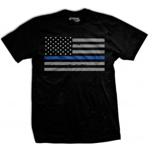 3881827ae1b1a Thin Blue Line Flag T-shirt from Ranger Up for Police, Law Enforcement
