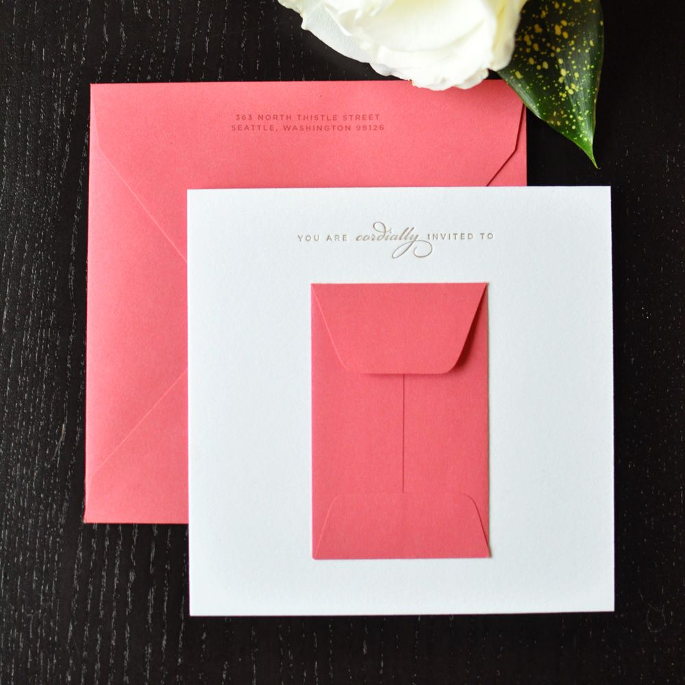 love having an envelope or pocket within the invite | paper love ...