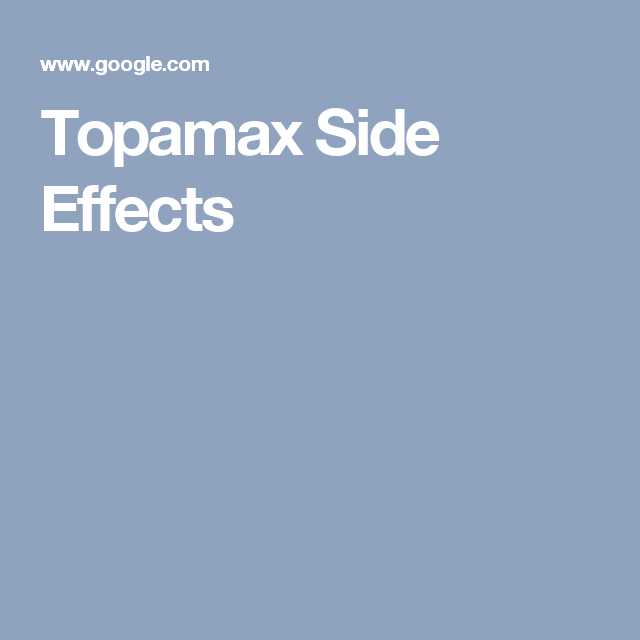 Topamax Side Effects: Common Severe Long Term (With ...