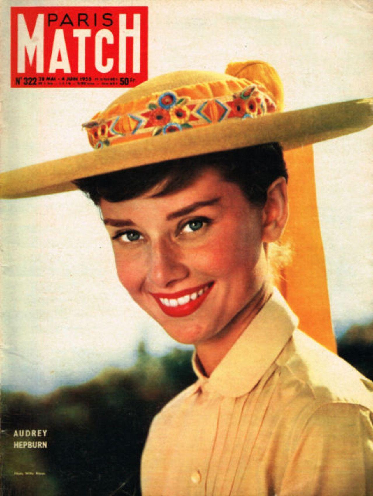 mimbeau:  Audrey Hepburn Paris- Match - May, 1955