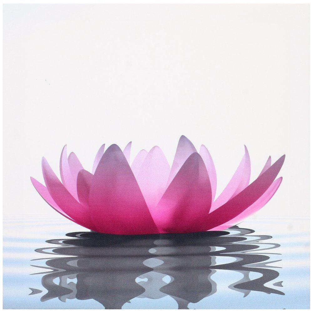 Tableau toile cadre zen lotus fleur rose n nuphar sur eau for Salle de bain japonaise