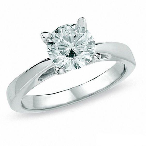 Celebration Lux 1 1 2 Ct Diamond Solitaire Engagement Ring In 14k White Gold I Si2 Solitaire Engagement Engagement Rings Dream Engagement Rings