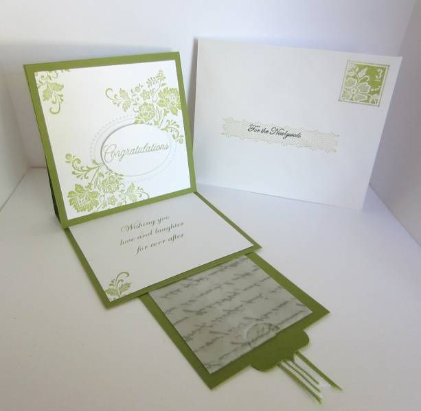 Easel Wedding Card With Gift Tab By A Creative Idea
