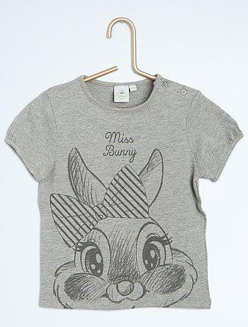26ec9fd6269b0 Tee-shirt imprimé Disney gris Miss Bunny Bébé fille - Kiabi - 5 ...