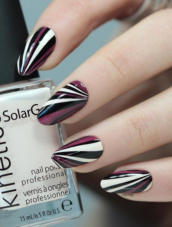 100 Stripes And Tape Nail Art Designs 2018 Pinterest Tape Nail