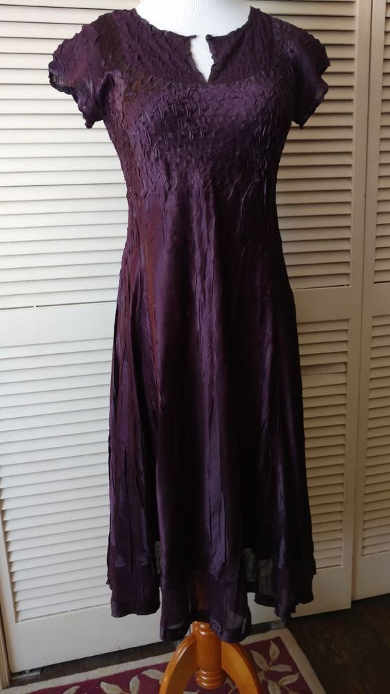 Beautiful Womens Purple Cocktail Evening Dress Dress Barn Size