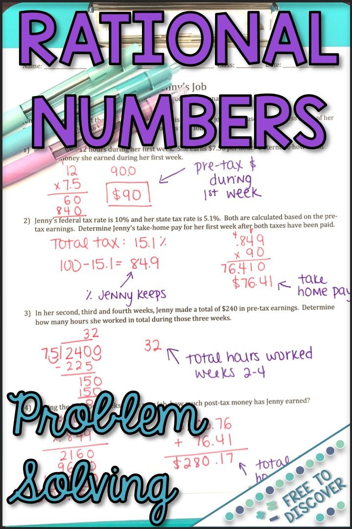 Solving Problems Involving Rational Numbers Discovery