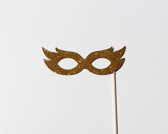 Best Photo Booth Props  Gold Glitter Mask by TOASTEDProject, $6.00