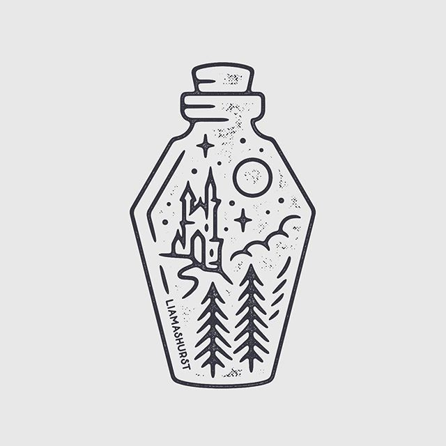 For sale! Quick castle Dracula potion bottle I man... - #bottle #castle #Dracula #illustration #Man #potion #Quick #SALE #tattoohalloweenb