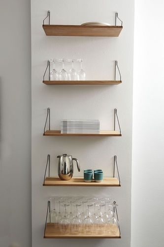 Wall Mounted Shelf Scandinavian Design In Wood Frama