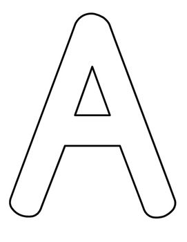 This Is Full Page Alphabet Coloring Sheets For Every Capital Letter Students Can Color The Letters Or Do Crafts
