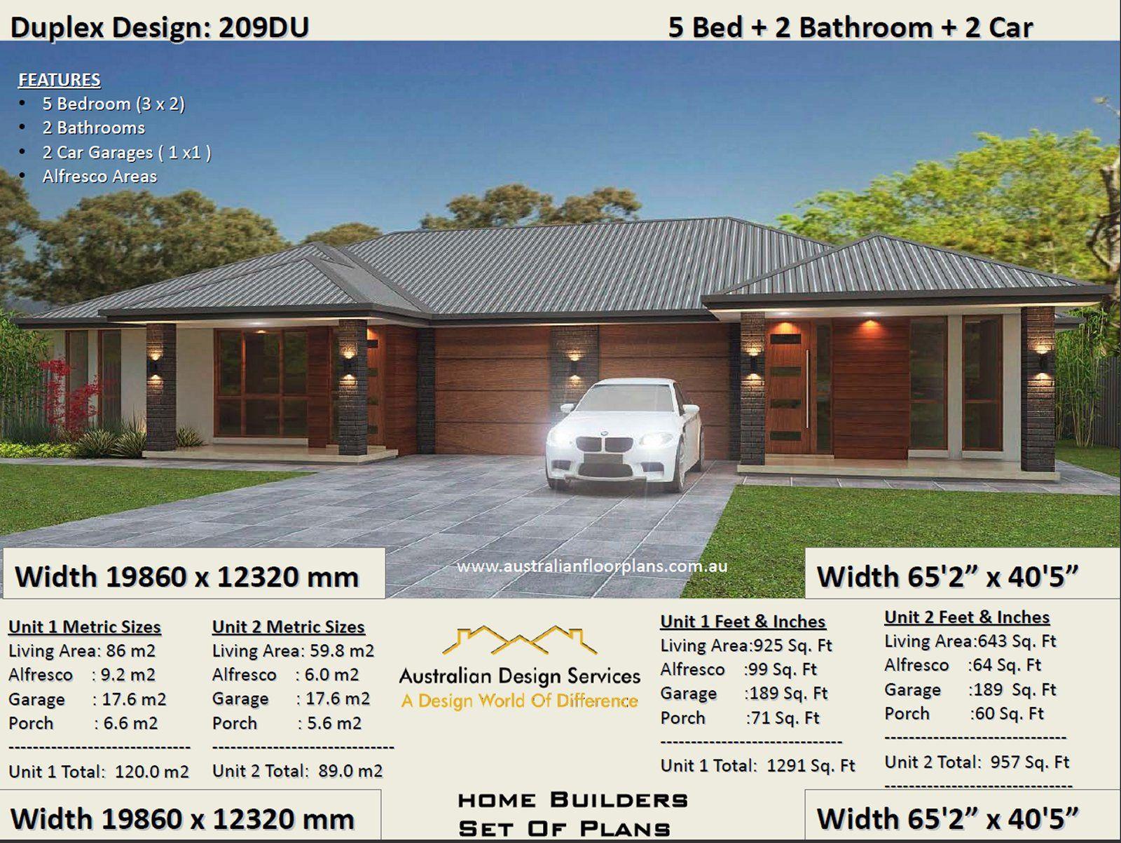5 Bed 2 Bath Duplex House Plans 3 X 2 Bedroom Duplex Plans 5 Bedroom Duplex Modern 5 Bed Duplex Plans Australian Duplex House Plan Duplex House Plans Duplex Design Duplex House